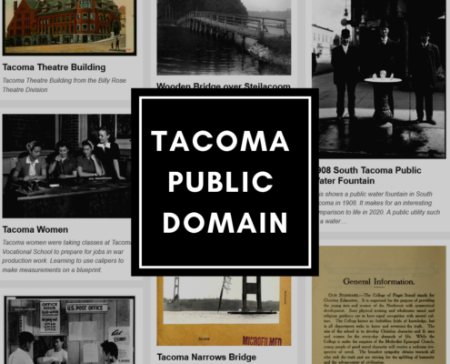 Collage of Public Domain images from Tacoma